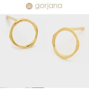 NEW gorjana circle stud gold Quinn earrings ⭕️
